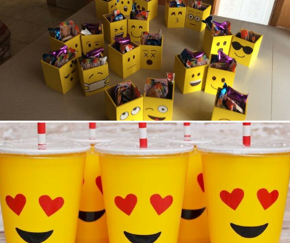 Como fazer uma festa Emoji u2013 Cupcake -> Decoração De Festa Tema Emoji
