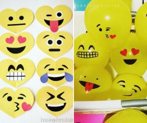 como fazer uma festa emoji cupcake cia