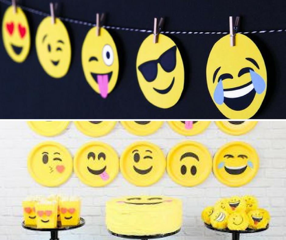 Como fazer uma festa Emoji u2013 Cupcake -> Decoração De Emoji Para Festa